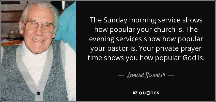 Sunday Morning Service Prayer