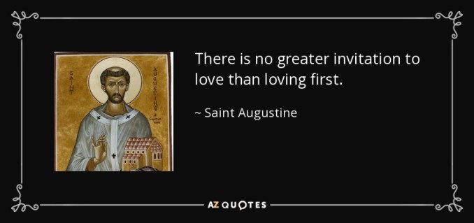 An invitation to love newsinvitation there is no greater invitation to love than loving first saint augustine stopboris Images