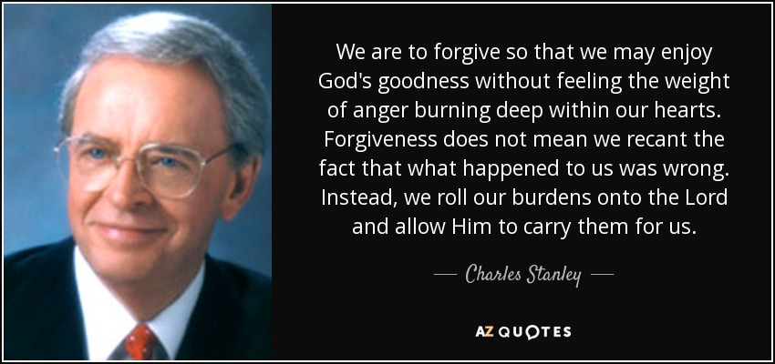 Image result for charles stanley forgiveness quotes