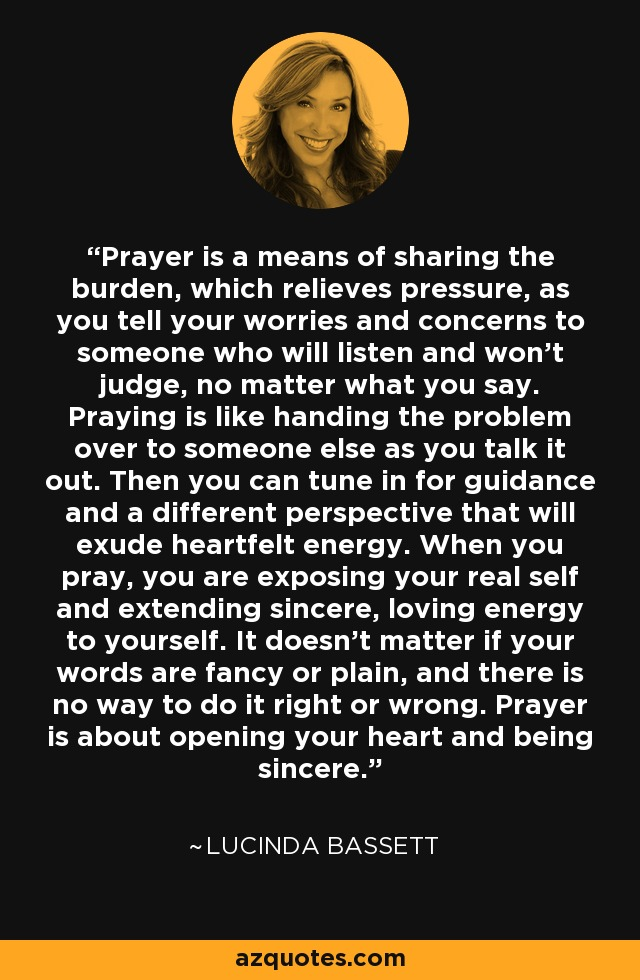 Image result for prayer means to listen