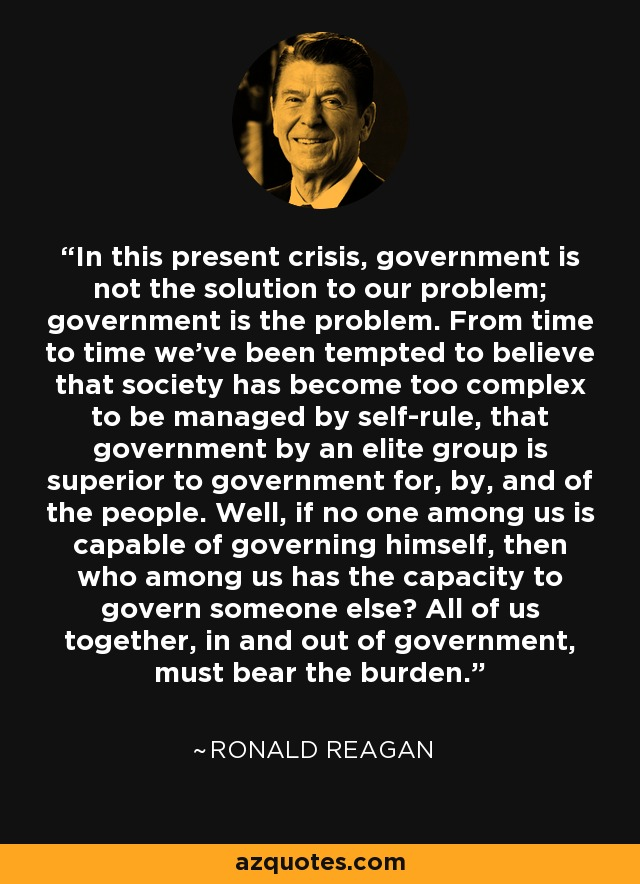 Image result for government is not the solution