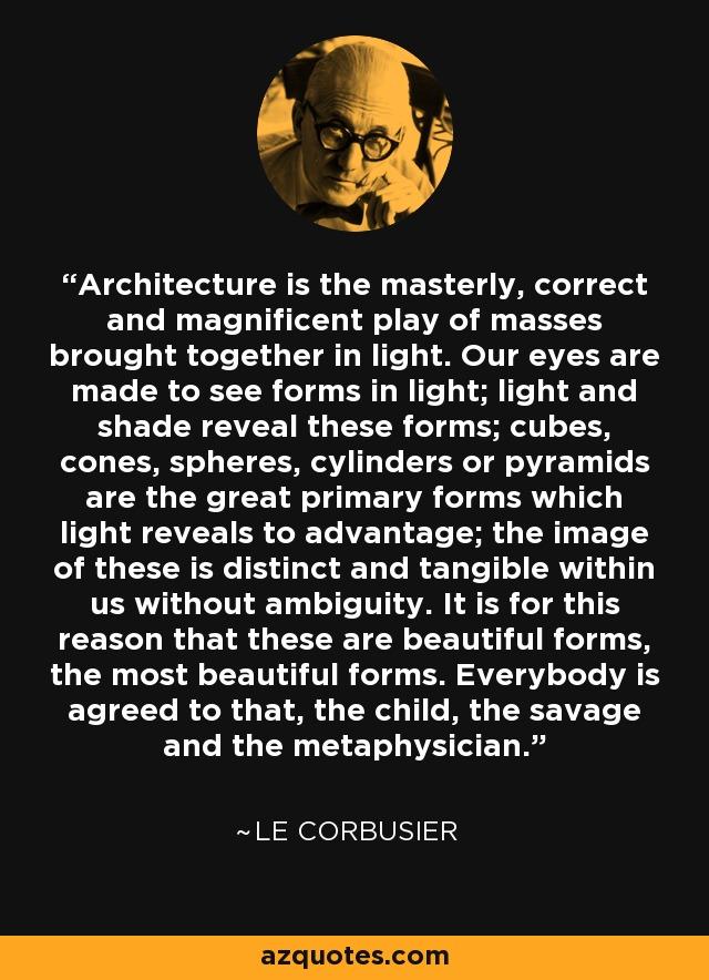 Le Corbusier Quote Architecture Is The Masterly Correct