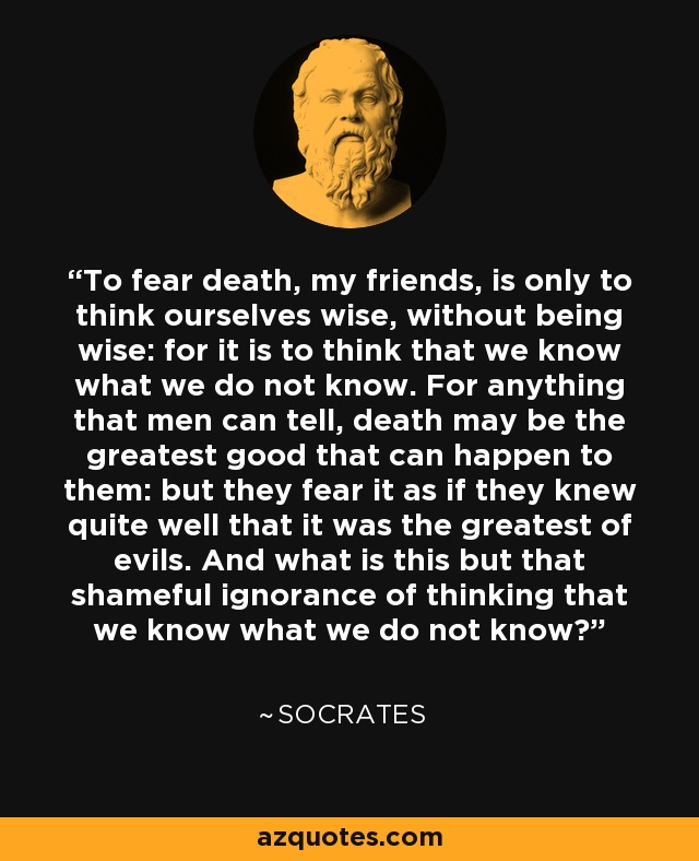 Image result for socrates on death