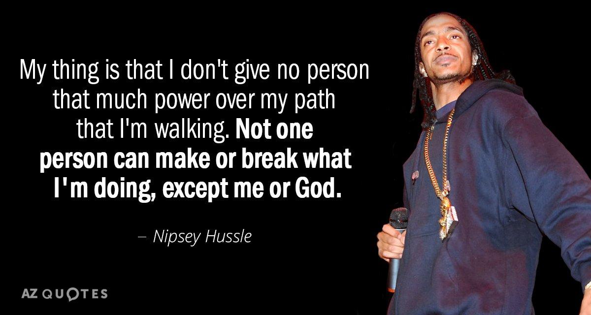 Hussle Nipsey Quotes Love