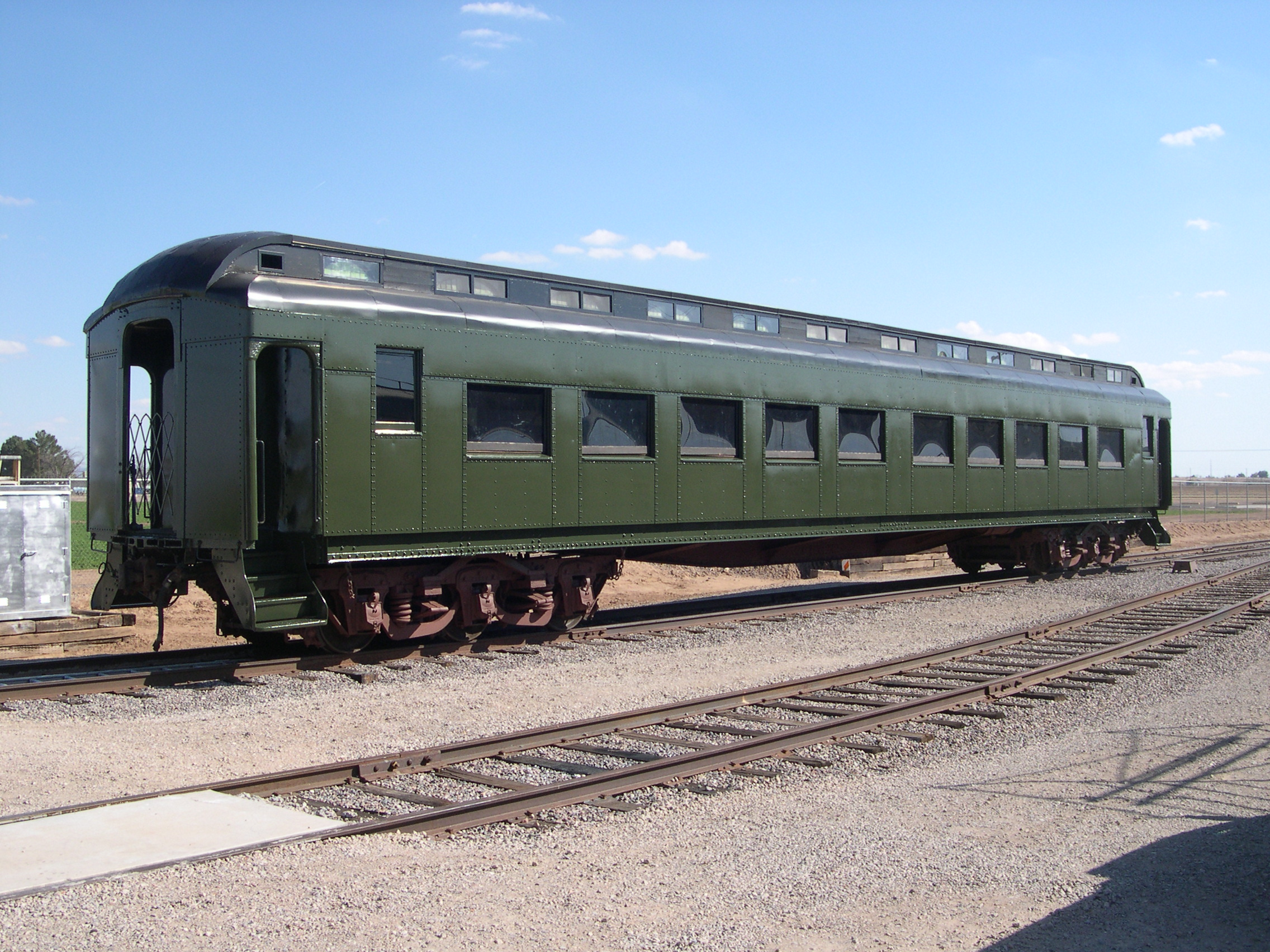 Outside of 1917 Pullman Men's Smoking Car