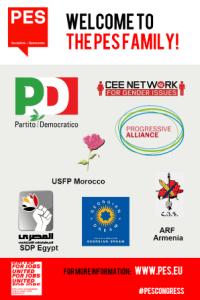 حزب الاتحاد الثوري الأرمني (الطاشناك) عضو في حزب الاشتراكيين الأوروبيين (PES)