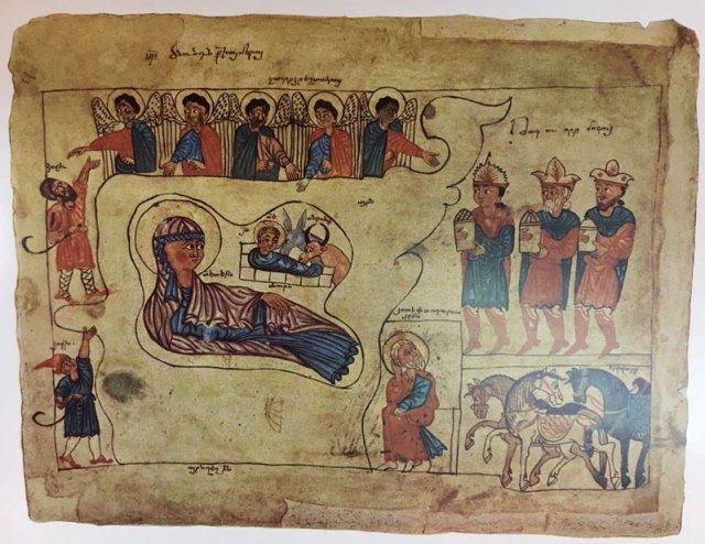 «Ծնունդը եւ մոգերու երկրպագութիւնը», Աւետարան, 1332 թ.