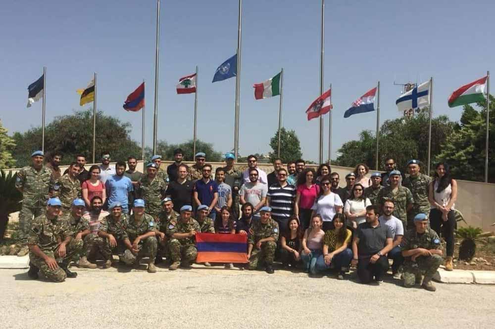 Զավարյան ուսանողական միության անդամները Հայաստանի հանրապետության   100-ամյակի առիթով  այցելել են հայ խաղաղապահներին