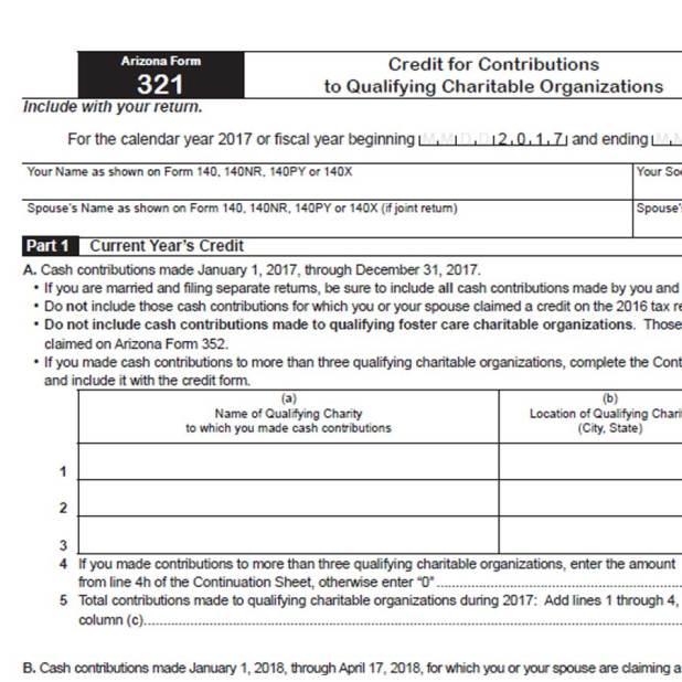 Arizona income tax rate tables