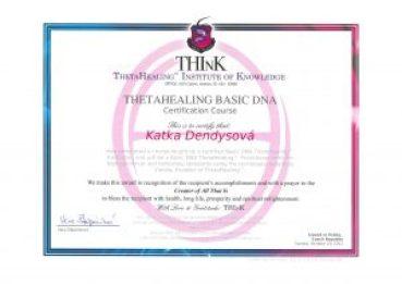 Certifikát Théta základní kurz