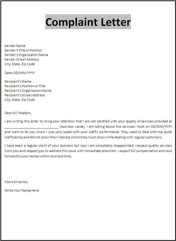 complaint letter template hotel best resume format pdf complaint