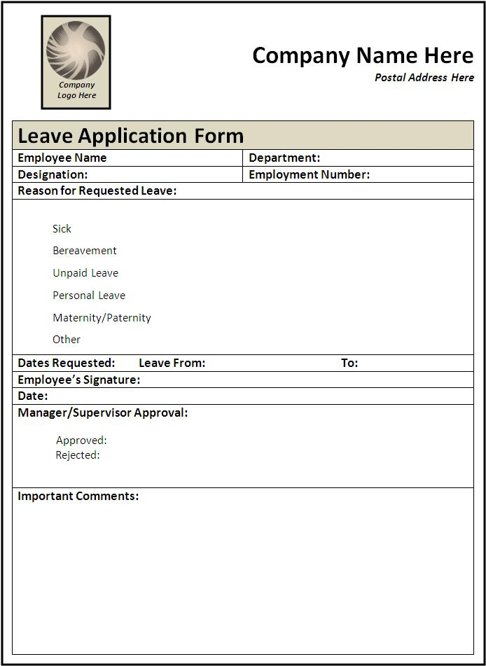 Doc694951 Leave Application Form for Employee Application For – Employee Leave Application Form