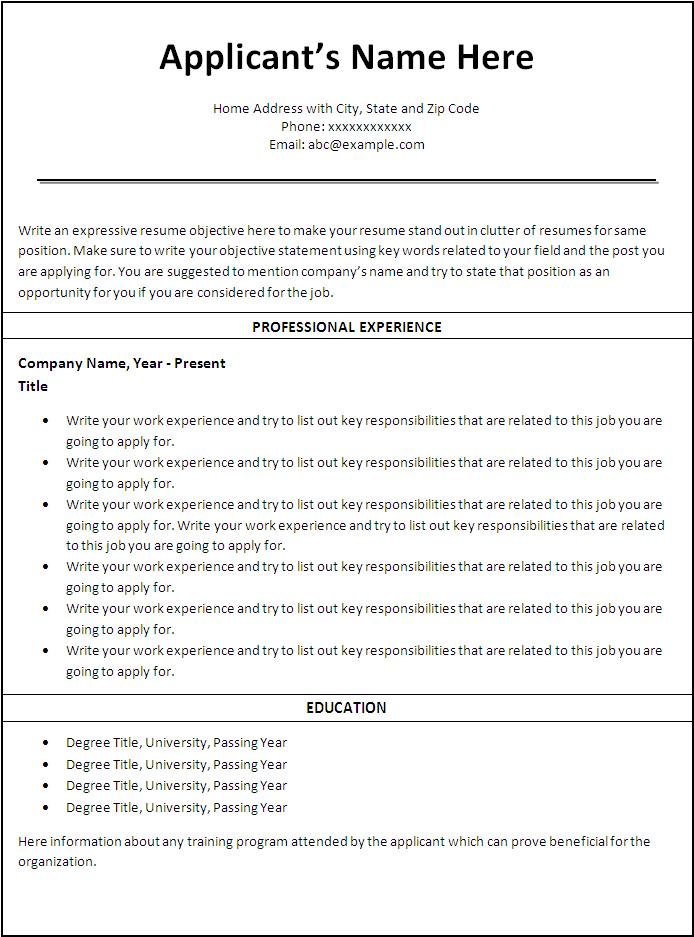 Good Nursing Resume Templates. Nursing Resume Template 5 Free
