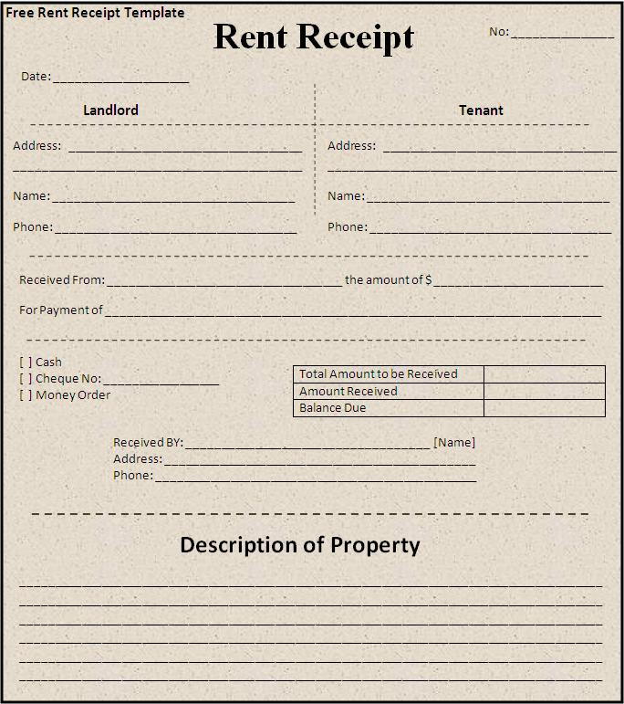 rent receipt template word document rent receipt template pdf word – Rent Receipt Template Word Document