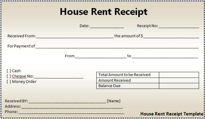 Free Rental Receipt Template. Rental Receipt Template. Tenancy