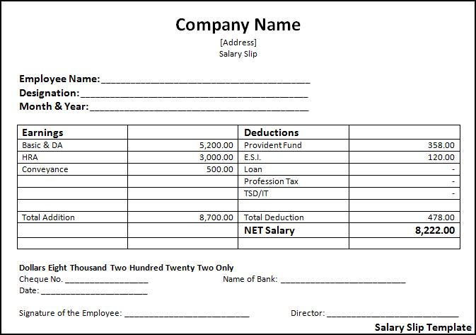 Doc529737 Payslips Sample Payslip Format Word and Excel – Payslip Formats