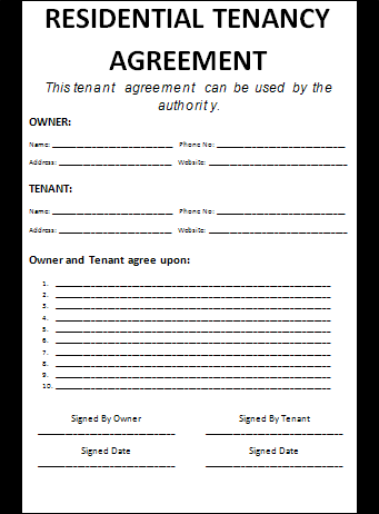 Lease Agreement Template Free. lease agreement free lease ...