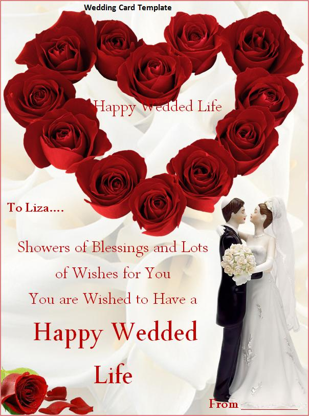 Wedding Greeting Card Template free printable invitation card – Rom Invitation Card