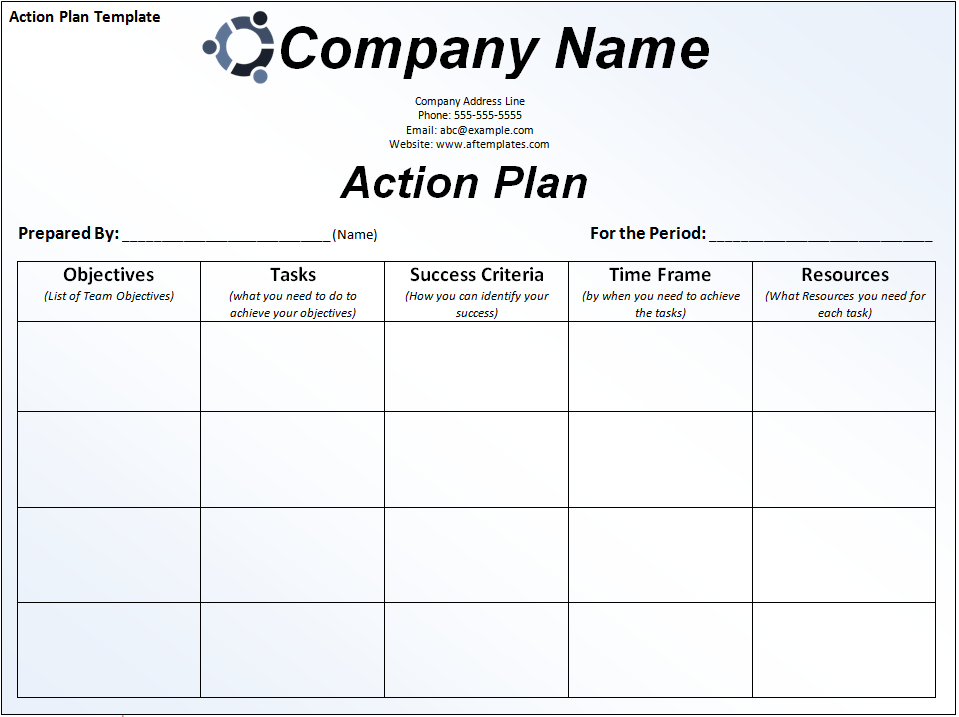 Sample Action Plans Templates business 4 documents in word pdf – Action Plans Templates