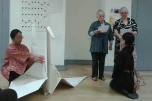 Azuki Foundation poem inspired by large origami crane