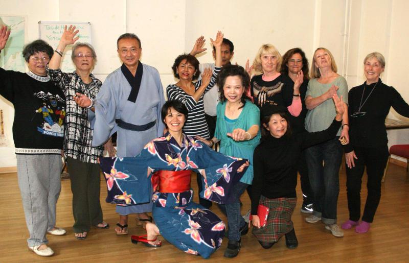 Japanese folk dance workshop at the Claremont project