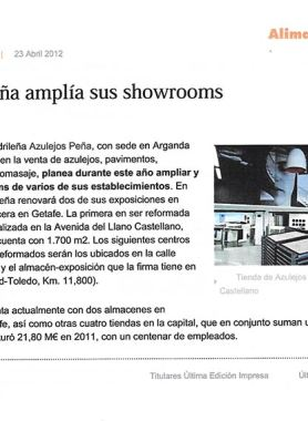Azulejos Peña amplía sus showrooms