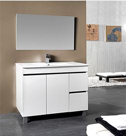 conjunto de mueble y espejo en oferta Azulejos Peña