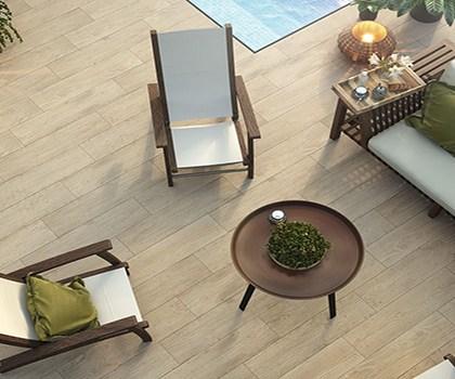 pavimento acabado madera