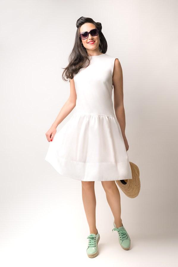 Vestido Hormiga Blanco 2 - SS19 Spring Bichos - Azul Marino Casi Negro - Moda sostenible