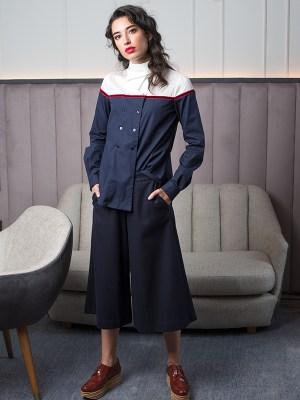 Camisa Chambra azul 2 - AW1920 Folk - Azul Marino Casi Negro