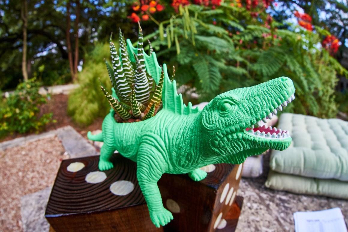 Tiny Wedding Dinasaurs with Cactus.