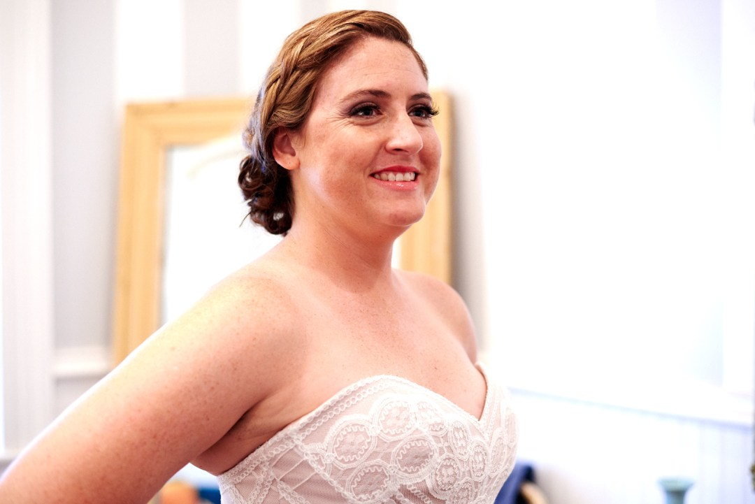 Bride getting ready at Mercury Hall