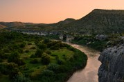 Sunset along the Rio Grande from the high cliffs.