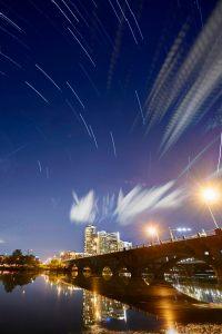 Down Town Austin Skyline Star Trail - Editing Star Trails - Austin Photo Workshops - Star Trail Photography Workshop