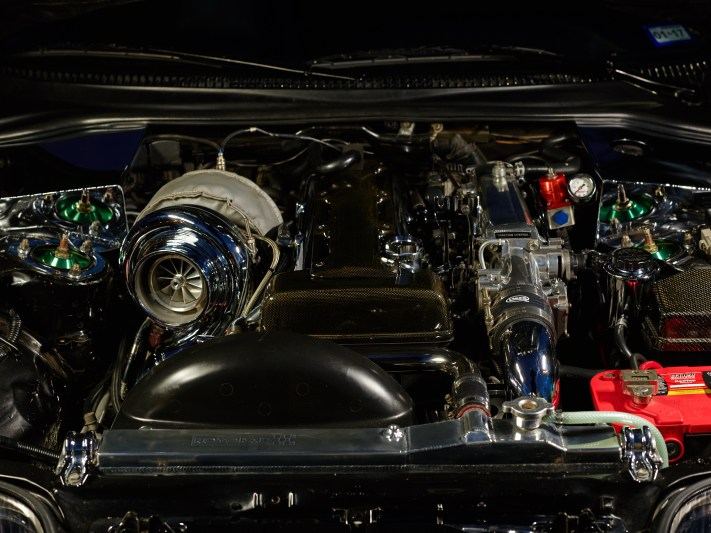 Houston Car Detail Photography - Toyota Supra Engine Bay - Phase One IQ3 100