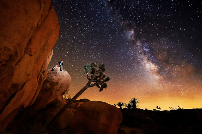 Joshua Tree Clumbing Landscape - Adding People to Landscape Photos - Astroportrait - Milky way photography - Austin Photography Workshops