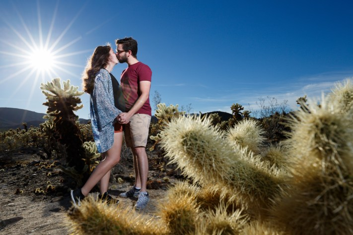 Joshua Tree Engagement Portrait- First Impression of the Canon 16-35mm F/2.8L III