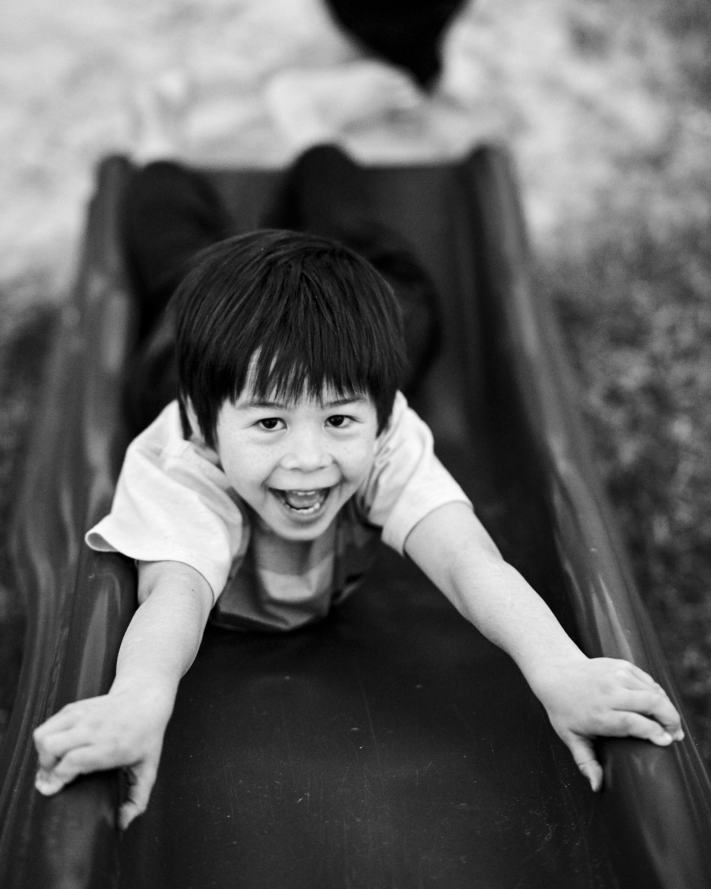 Playground Portrait - Black and White Portrait - Kids Playing - Photography Workshops - Photography Inspiration
