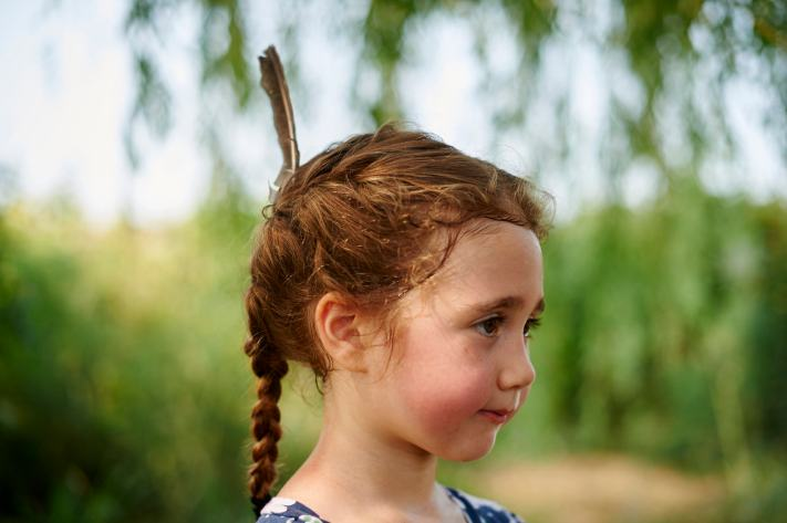A Feather in the Hair - Photographing Genuine Moments - Portrait Photography
