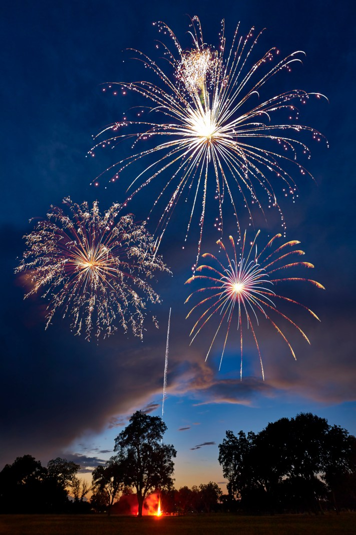 Seguin 4th of July Fireworks - Autin Photography Workshops - Fireworks Night Photography