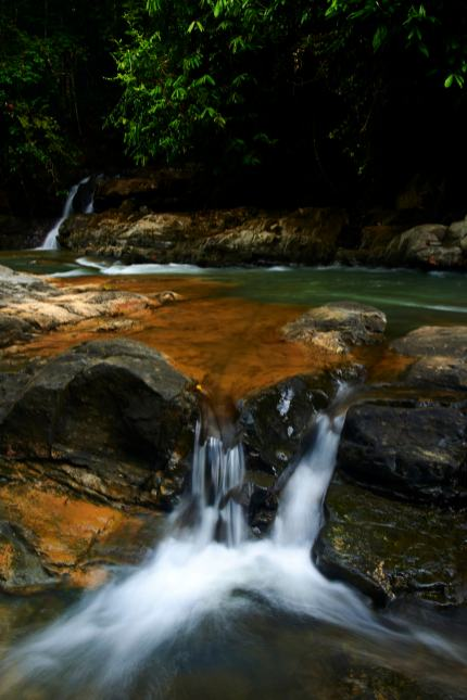 Long Exposure of a Costa Rica Waterfall using Tripod and 28mm Lens