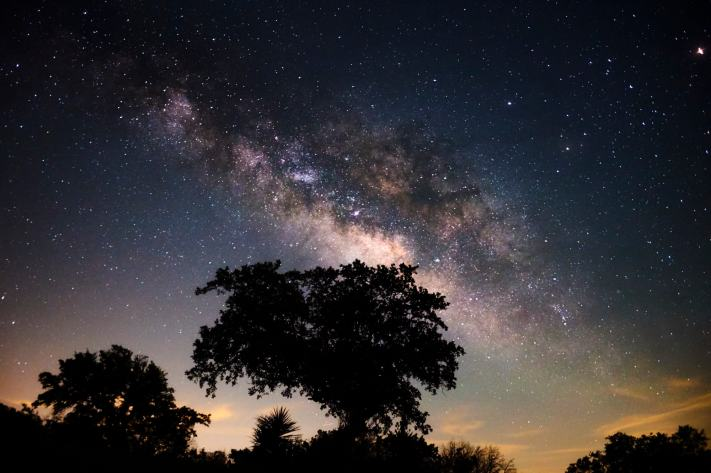 Milky way photographed at 38mm.