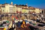 Cannes - Blick vom Fischereihafen auf die Altstadtt