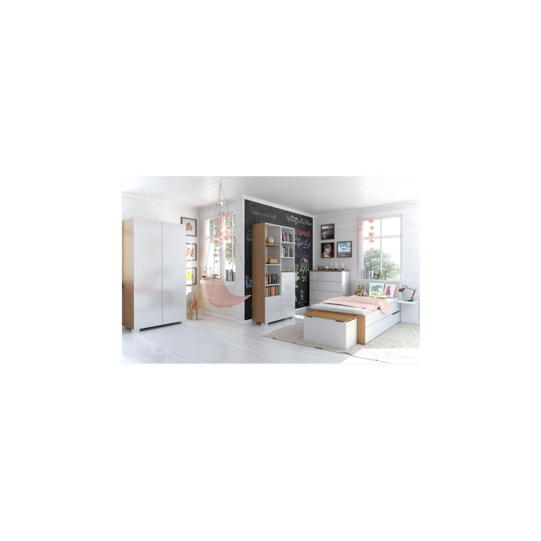chambre complete vera blanc et violet