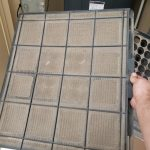 Dirty HVAC air filter