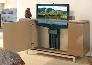 tv lift cabinet touchstone monterey motorized popup