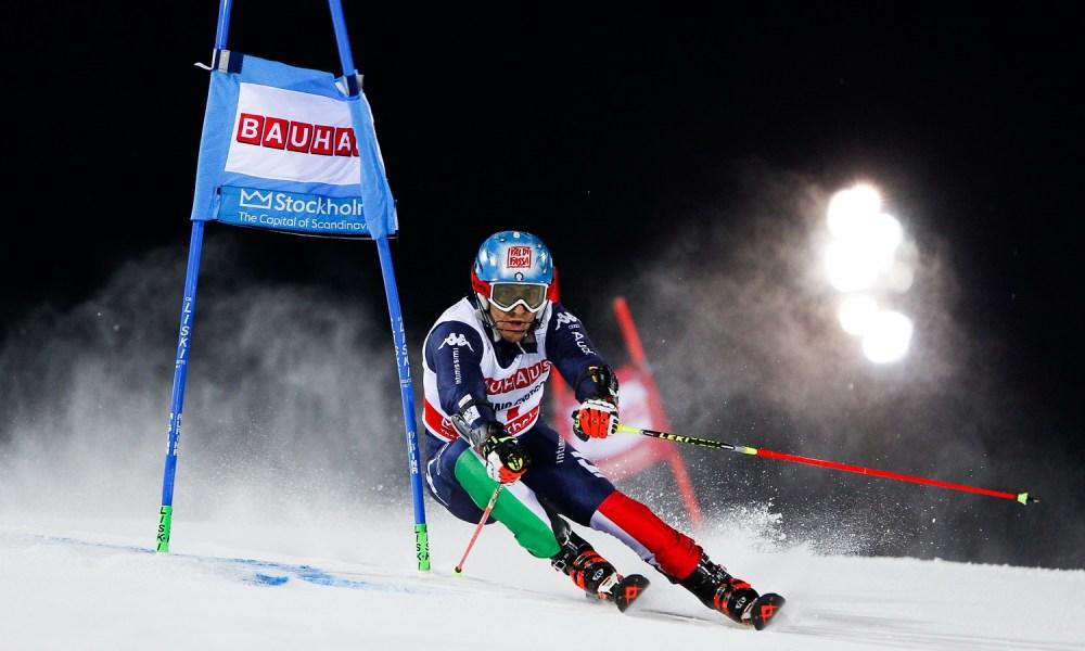 Stefano Gross atleta azzurro della nazionale italiana di sci alpino italia