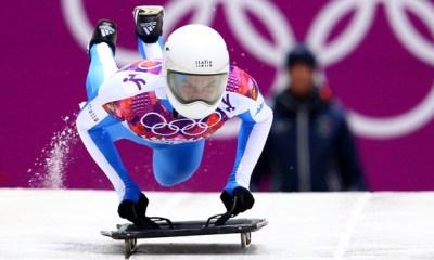 maurizio oioli in gara alle olimpiadi invernali di sochi 2014 - skeleton italia