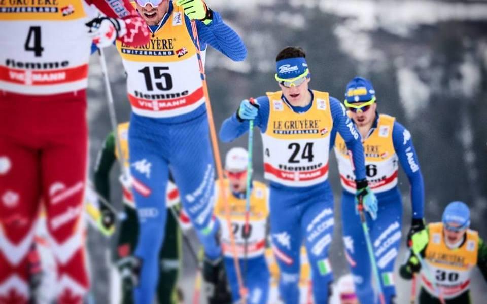Staffetta maschile 4x10 km alle Olimpiadi invernali 2018 con Francesco De Fabiani