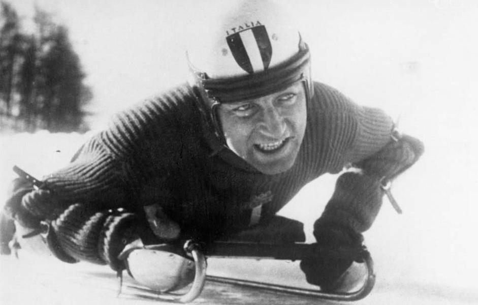 skeleton Nino Bibbia primo oro olimpico invernale italiano st. moritz 1948 italia Olimpiadi invernali